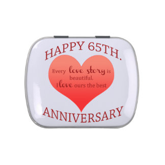 65th. Anniversary Jelly Belly Candy Tin