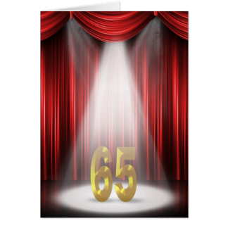 65th Anniversary Spotlight Congratulations Card