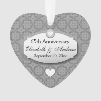 65th Anniversary Wedding Anniversary Diamond Z02 Ornament