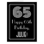 "[ Thumbnail: 65th Birthday — Art Deco Inspired Look ""65"" + Name Card ]"