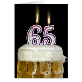 65th Birthday Beer Card