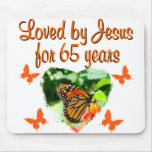 65TH BIRTHDAY BUTTERFLY MOUSE PAD