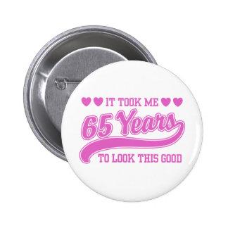 65th Birthday Button