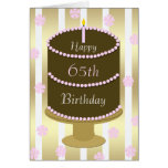 65th Birthday Card Cake in Pink