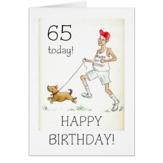 65th Birthday Card for a Retired Man