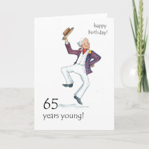 65th for a man birthday cards zazzle
