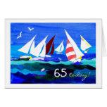 65th Birthday Card - Sailing