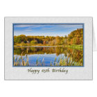 65th Birthday Card with Lake Reflections