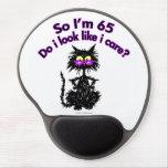 65th Birthday Cat Gel Mouse Pad