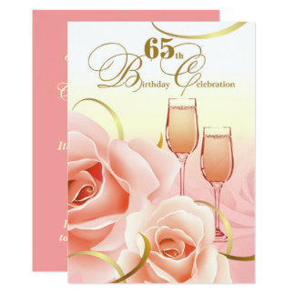 65th Birthday Celebration Custom Invitations