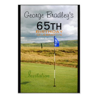 65th Birthday Celebration Golf Customizable Invite