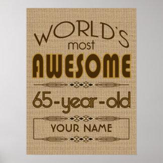 65th Birthday Celebration World Best Fabulous Poster