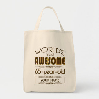 65th Birthday Celebration World Best Fabulous Tote Bag