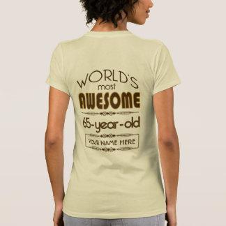 65th Birthday Celebration World Best Fabulous Tee Shirts