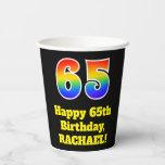 [ Thumbnail: 65th Birthday: Colorful, Fun, Exciting, Rainbow 65 ]