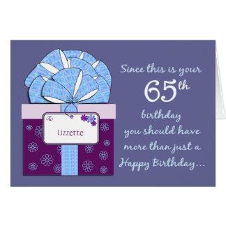 65th Birthday Customizable Card