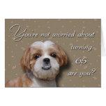 65th Birthday Dog Greeting Cards