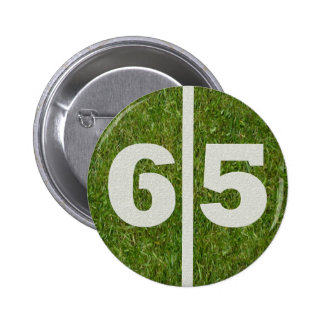 65th Birthday Football Yard Button