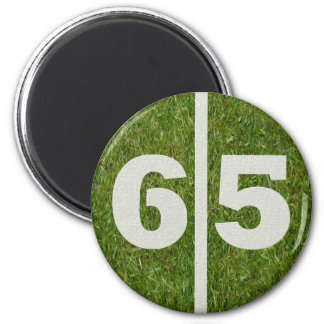 65th Birthday Football Yard Magnet