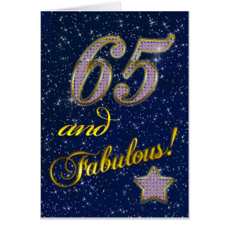 65th birthday for someone Fabulous Greeting Card