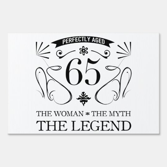 65th Birthday For Women Lawn Sign