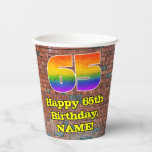 [ Thumbnail: 65th Birthday: Fun Graffiti-Inspired Rainbow 65 ]