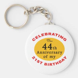 65th Birthday Gag Gifts Basic Round Button Keychain