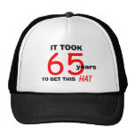 65th Birthday Gag Gifts Hat for Men