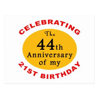 65th Birthday Gag Gifts Postcard