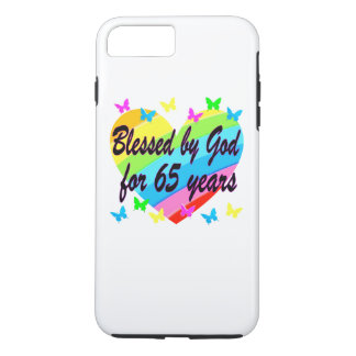 65TH BIRTHDAY GOD LOVES ME DESIGN iPhone 8 PLUS/7 PLUS CASE