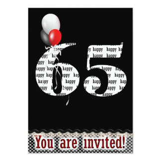 65th Birthday Invitation