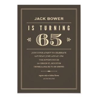65th Birthday Invitations for Men