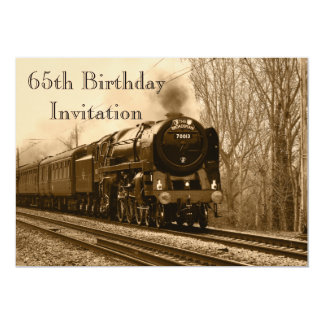 65th Birthday Invite