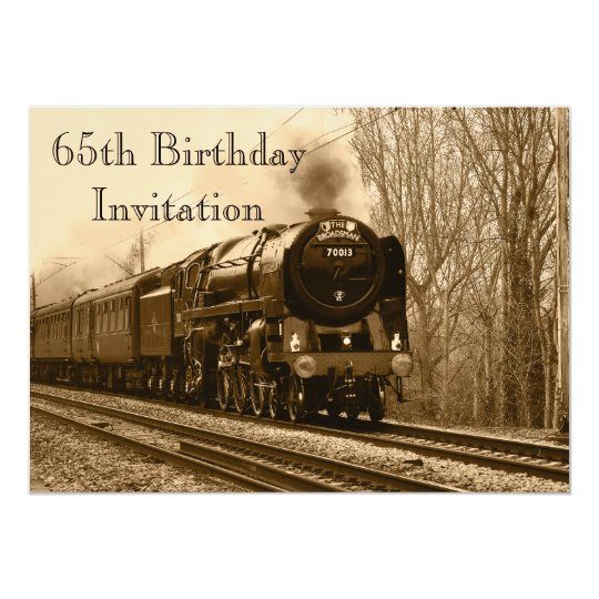 65th Birthday Invite