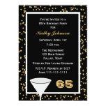 65th Birthday Party Invitation 65 and Confetti