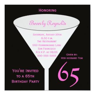 65th Birthday Party Invitation 65th Toast