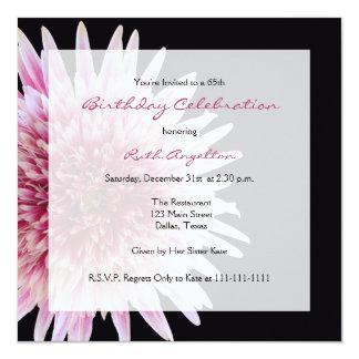 65th Birthday Party Invitation Gerbera Daisy