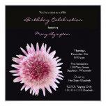 65th Birthday Party Invitation -- Gorgeous Gerbera