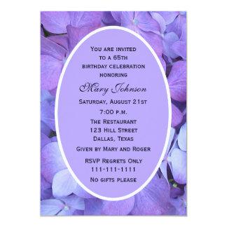 65th Birthday Party Invitation -- Hydrangea Personalized Announcements