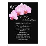 65th Birthday Party Invitation -- Orchids Custom Invitations