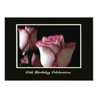 65th Birthday Party Invitation Roses