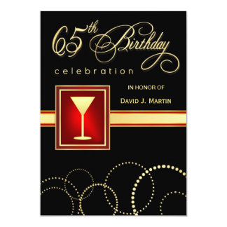 65th Birthday Party Invitations