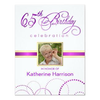 65th Birthday Party Invitations - with Monogram