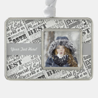 65th Birthday Party Personalized Gifts Ornament