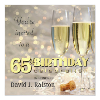 65th Birthday Party  - Personalized Invitations