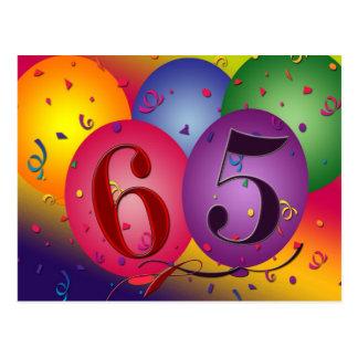 65th birthday party postcard invites - Customized