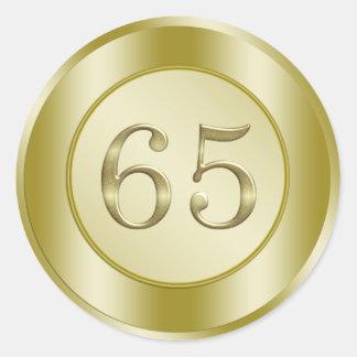 65th Birthday Sticker