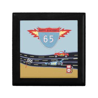 65th Birthday Stock Car Racing Theme Gift Box