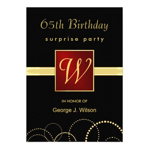 Personalized 65th birthday party Invitations – 65th Birthday Invitations
