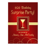 65th Birthday Surprise Party Invitations